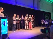Quim Garreta Co-Founder & CBDO de Cubus Games recull el Premi TICAnoia de mans de la Consellera de Salut de la Generalitat de Catalunya, Sra. Alba Vergés