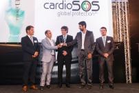 Premi TICAnoia 2016 en el marc del sopar de la UEA. Recull el guardó el Sr. Josep Méndez de mans del MH President de la Generalitat Carles Puigdemont. (Foto: Josep Balcells - 2016)