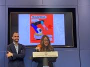 Regisdora Patricia Illa i Jordi Solà, president de TICAnoia durant la roda de premsa Mobile Week Igualada 2020