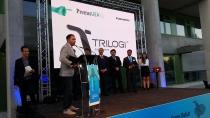 Premi TICAnoia 2015 en el marc del sopar de la UEA. Recull el premi en Màrius Rossell, CEO cofundador Solutions Trilogi SL,