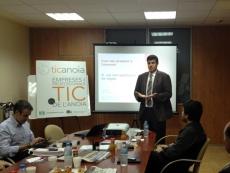 Jordi Iparraguirre, director de la Fundació puntCAT durant el 19è Cafè Digital TICAnoia
