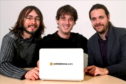 Oriol Solé, David Tardà i Andreu Caritg. (EFE)