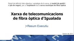 Xarxa de telecomunicacions de fibra òptica d'Igualada. Resum executiu