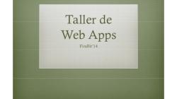 Taller d'introducció a la programació de webApps