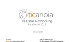 TICAnoia / Pla d'acció 2015