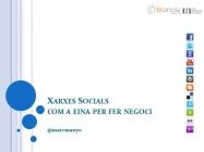 Xarxes socials com a eina per a fer negoci