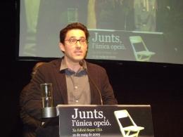 David Berneda de Munich recull el Premi TIC Anoia 2009 a la implantació de les eines TIC - fotografia:anoiadiari.cat