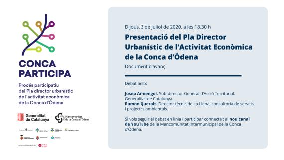 Procés participatiu de Pla director urbanístic d\'activitat econòmica de la Conca d\'Òdena (PDUAECO)