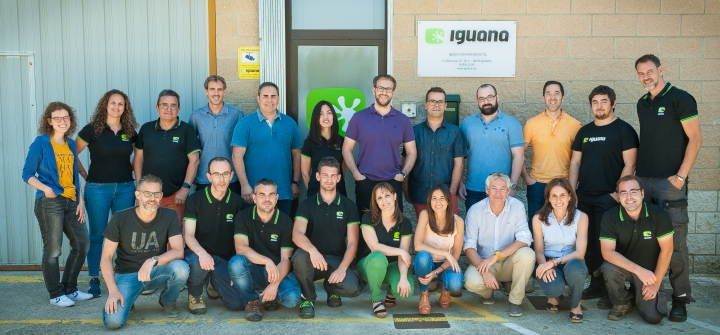 Part de l'equip d'Iguana