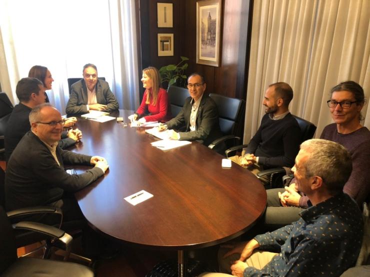 TICAnoia es reuneix amb l'Ajuntament de Manresa i la UPC en el marc de la junta de Sinergia Business