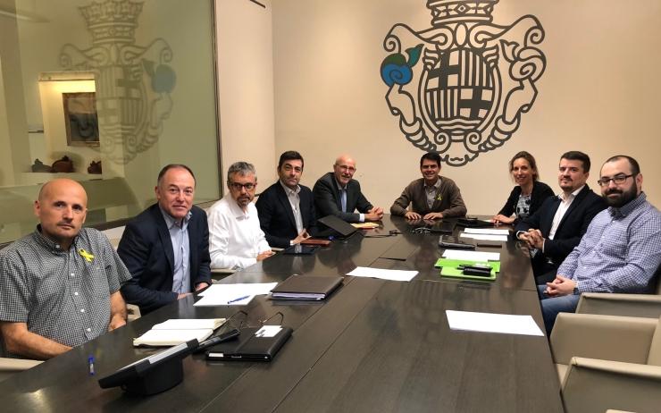 Trobada  Delegació Fundació Mobile World Capital Barcelona amb l'Ajuntament d'Igualada, TICAnoia i Sinergia